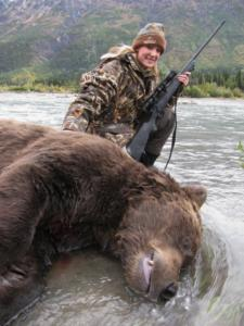 hunting MP, Margretta  Wikert's grizzly, 1 shot, .375 HH, 157 yards
